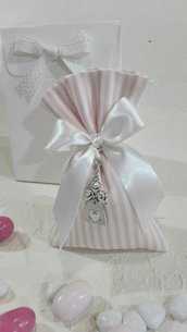 5 sacchettoni piquet righe rosa PIQ/5 rosa