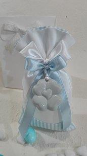 5 sacchettoni piquet righe azzurro e bianco tinta unita PIQ/6 azzurro