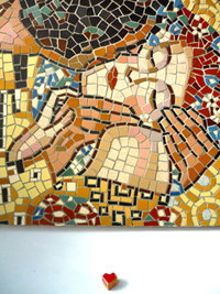Kit mosaico fai da te ' IL BACIO ' DI KLIMT