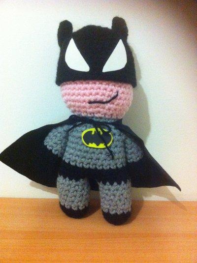 pupazzo Batman, amigurumi