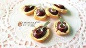 Pane cioccolato nutella fimo ciondolo pendente dolci charm materiale per creare bigiotteria