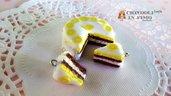 Set torta limone glassa ciondoli fimo charms bigiotteria materiali creare bijoux  bomboniere