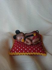 Cuscinetto con bebè Mickey Mouse