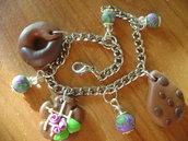 bracciale in fimo biscotti
