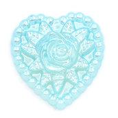 1 cabocohon decorativo con Rosa Azzurro perlato  18 x 17 mm per bigiotteria, collane portachiavi, orecchini bomboniera bomboniere chiudipacco