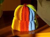 cappellino invernale arcobaleno