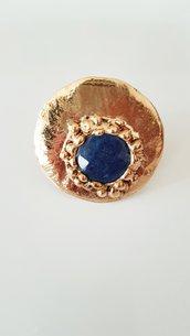 Anello agata blu