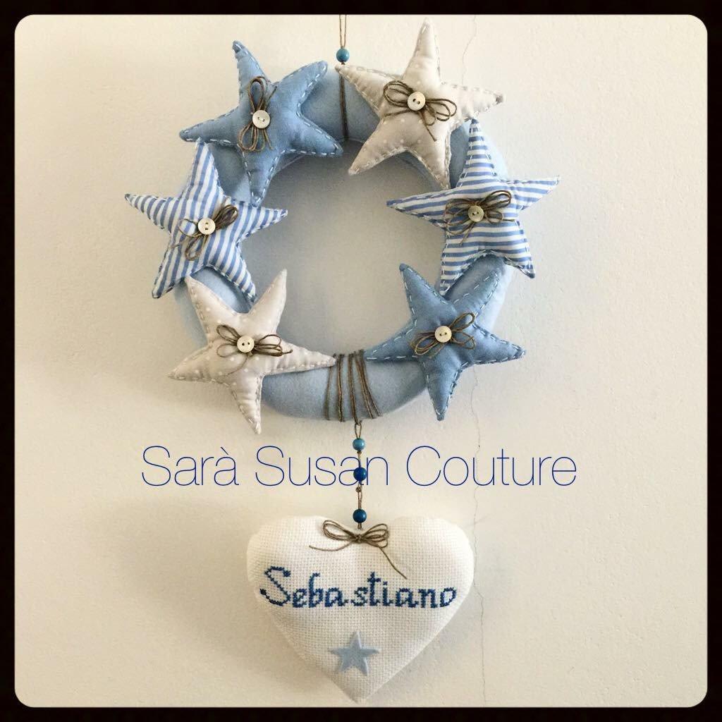 "Fiocco nascita ""Dolce stellina"" – Sara Susan Couture"