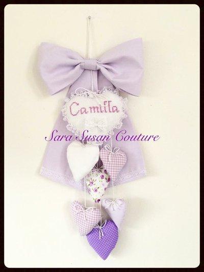 "Fiocco nascita ""Cuoricini d'Amore"" – Sara Susan Couture"
