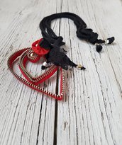 Collana con cerniere LOVE LETTER red
