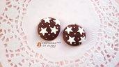 Biscotto stelle cioccolato fimo materiale creativo bomboniere bijoux