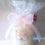Bomboniera candela personalizzata battesimo nascita bomboniere bimba bimbo angioletto confetti