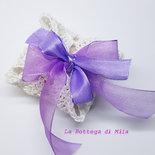 Bomboniera segnaposto confetti sacchettino uncinetto vintage shabby chic bomboniere matrimonio battesimo comunione cresima nascita