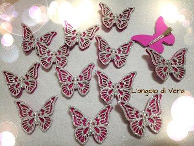Bomboniera Fine festa gadget mollette per capelli farfalle