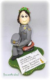 Cake Topper Laurea, decorazione torta, regalo per laureata