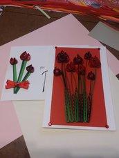 Biglietto con tulipani