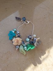bracciale fiori colorati fimo handmade