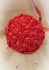 Bouquet di raso rosso laurea