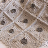Copertina Culla Baby lana beige unisex - fatta a mano