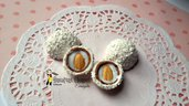 Cioccolatino raffaello cocco mandorla con effetti realistici materiale creativo bigiotteria decorazioni