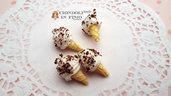Cono stracciatella ciondolo kawaii pendente gelato dolci materiale bijoux decoden bomboniere