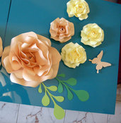 romantica decorazione - fiori di carta - paper flowers