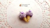 Cono lilla kawaii ciondolo pendente gelato dolci materiale bijoux decoden fai da te