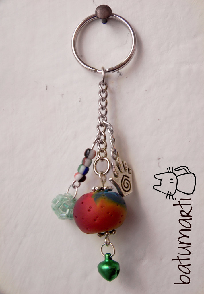 Portachiavi arcobaleno - Rainbow keychain