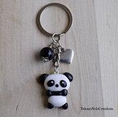Portachiavi panda kawaii in fimo