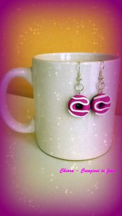Orecchini in fimo ciambelle rosa con glassa, idea regalo ragazza, regalo teenager, regalo compleanno, orecchini kawaii, gioielli kawaii
