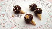Cono cioccolato biscotto ciondolo pendente gelato dolci materiale bijoux decoden kawaii