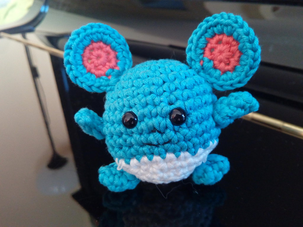 🌟 MARILL AMIGURUMI 🌟- CROCHET- POKEMON🌟🌟 - YouTube | 768x1024