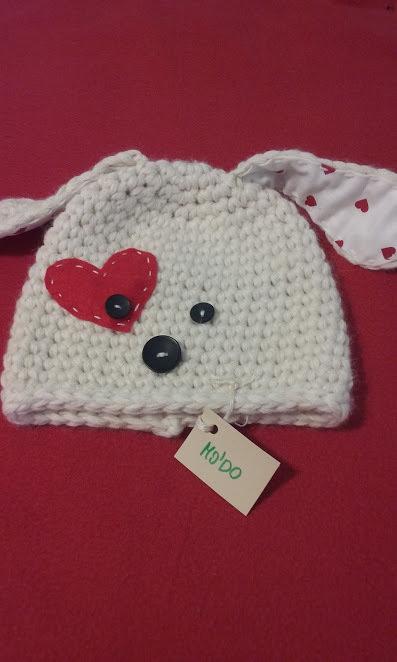 cappello bimbi cagnolino lana uncinetto