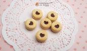 Biscotto ripieno cioccolato cuore ciondolo fimo pendente materiale creare bijoux decoden bomboniere