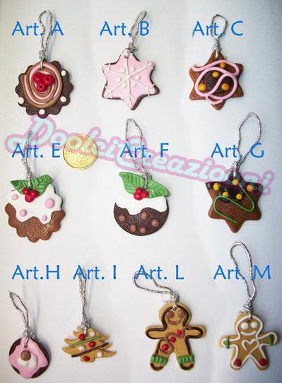 Biscottini da appendere all'albero di Natale!!!