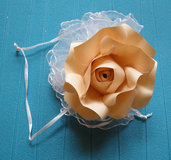 10 pezzi - SU ORDINAZIONE - romantiche bomboniere - rosa di carta  - matrimonio - battesimo - romantic - rose of paper - handmade - wedding