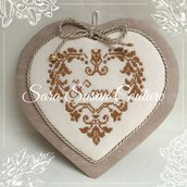 "Cuore ""Home"" a punto croce - Sara Susan Couture"