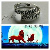 Hakuna matata anello regolabile il re leone