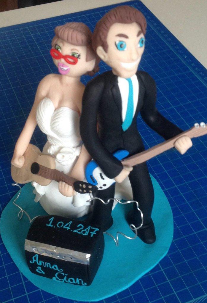 Cake topper Olmery sposi