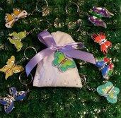 Bomboniera farfalla portachiavi