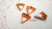 pizza mozzarella ciondolo fimo pendente materiale bigiotteria kawaii bomboniere componenti