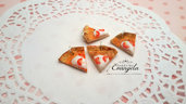 Pizza pomodorini ciondolo fimo pendente materiale bigiotteria kawaii bomboniere componenti