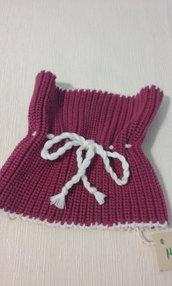 scalda collo bimba lana rosa