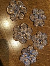 Rosette o rose, ricambi per specchi veneziani, in vetro soffiato di Murano , 5 cm di diametro, ideale per sostituire pezzi rotti o danneggiati in specchi Veneziani