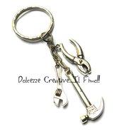 Portachiavi Uomo - meccanico - idraulico - pinze, martello e chiave inglese - handmade idea regalo