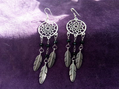*Coppia di orecchini acchiappasogni - Dreamcatcher earrings*