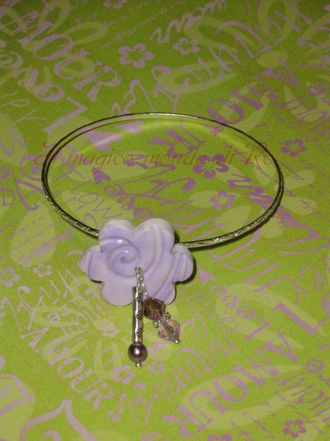 "Bangle ""Fiore di pesco"""