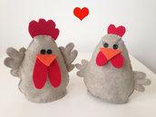 Galletto e gallina in panno