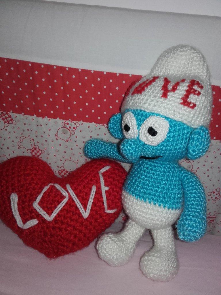San Valentino Puffo Cuore Alluncinetto Homemade Amore Idee Regalo