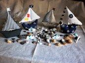 Barchette bomboniera ,segnaposto, ,portaconfetti,nascita ,battesimo ,matrimonio,nozze, feste di compleanno,tema mare,handmade